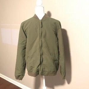Green Levi's bomber jacket
